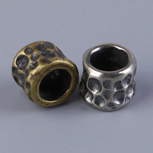 Молоток зерна EDC DIY нож Beads Pendant Винтажная Туризм и кемпинг Отдых Туризм Цвет латунь мельхиор для Paracord бусин nqef #