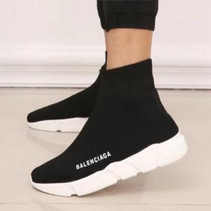 QQ37 2020 New Paris velocità formatori Knit calzino del pattino di donne originali scarpe casual scarpe della donna dell'uomo Mens Sneakers Cheap High Top Quality