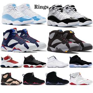 Новый UNC 6 6s кольца Jumpman мужские баскетбольные ботинки, определяющие моменты единомыслии 7 VII бордо черный патент Hare мужчин, женщин стилиста кроссовки