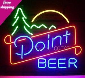 Segno di New Point vera birra di vetro della luce al neon della barra della birra Neon Signs personalizzare il colore Rosso Blu Verde Bianco Giallo Arancione Bianco Rosa Turchese C1