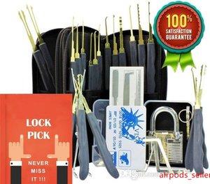 24 Pedaço GOSO colheita do fechamento Tool Set serralheiro Prática de bloqueio Escolha Tool Set com cartão Transparente Cadeado Credit Bloqueio Escolha Set