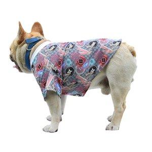 Moda artı boyutu Boş köpek gömlek Sokak stili evcil köpek giysileri boyutlu baskı nefes örgü yaz pet giysi köpek Kızarmış