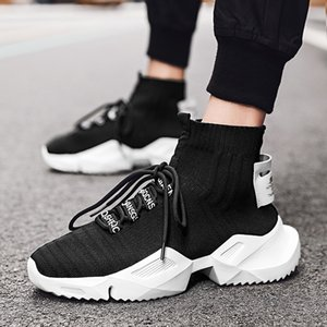 COOLVFATBO Hommes Chaussures Casual Outdoor Hommes Chaussures Mode respirant léger Chaussures de course confortable Sport Dropshipping
