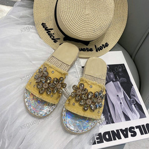 Women Leather Espadrille Sandal Slide progettista Sandal High Quality Real leather Cord Platform Double Xshfbcl Beach slipper