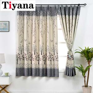 Tiyana brevi fogli disegno tende camera da letto finestra della cucina Ready Made farfalla tende per il salone PC02X