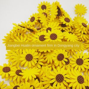XxZvU Kindergarten handmade DIY material chrysanthemum aids hair ring accessories cut-free Non-woven early education Diy early education 6cm