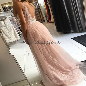 Sexy Pink Prom Dresses Mermaid Dubai Abaya Formal Evening Gown With Lace Bead Summer Overskirt Prom Party Dress 2020 Elegant robes de soirée