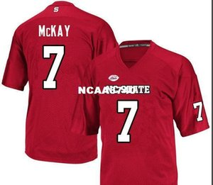 Women NC State Wolfpack Matt McKay #7 LADIES real Full embroidery College football Jersey Size S-4XL or custom any name or number jersey
