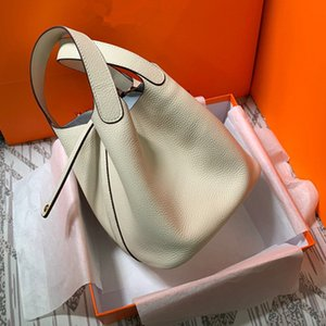 Растительная корзина 20 новый женская головы кожа чистая красная сумка кожа простой и универсальной рука проведение Bucket Bag