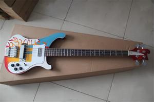 свободная перевозка груза Rick 4003 4 струны бас-гитары, бас правой рукой, левой рукой бас, вишни шаблон тела, палисандр гриф оболочки инкрустации, chremo