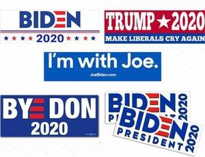President Joe Biden Pvc Sticker Trump 2020 Bumper Decals 10pcs pack Car Stickers Usa American Campaign Paster Wall Suitcase Accessory D62903