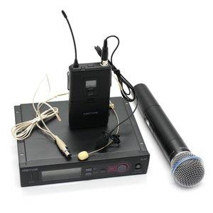 المهنية كاريوكي ميكروفون UHF PRO SLX24 / SLX14 / BETA58 WIRELESS MICROPHONE + محمول + طية صدر السترة + سماعة هيئة التصنيع العسكري للمرحلة