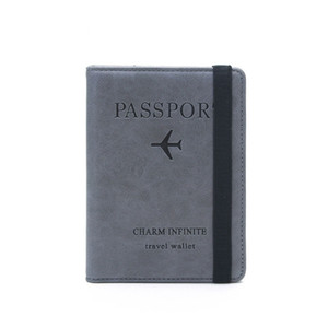 Wallet cross-border hot sale 2020 ladies new RFID passport this multi-function card certificate folder anti-theft brush passport wallet