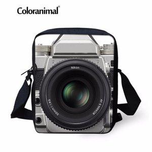 Coloranimal 빈티지 3D 카메라 소년 소녀 작은 어깨 메신저 가방 유치원 미니 학교 가방 어린이 매일 크로스 바디