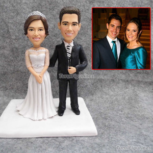Wedding Figurine Photo Creative Wedding Gift Accessories Doll Couple Clay Figurine Customized Cartoon Doll Portrait Birthday Gift