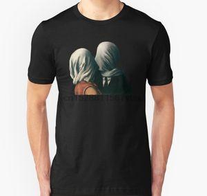 Männer-T-Shirt Der Liebhaber Rene Magritte Surreal Malerei-Kunst-Liebhaber-Geschenk-T-Shirt Slim Fit T-Shirt T-Shirt T-Shirts Top Printed