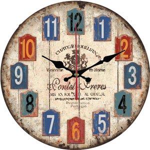European and American Retro Mute Wall Clock Living Room Home Bedroom Fashion Wall Watch Simple Creative Clock Cool Restaurant Clock