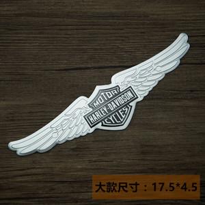 Harley Motorrad Schädel Aufnäher Kleidung Aufkleber Applique Blumen-Rose-Skeleton Eisen-Auf Metall modifizierten Körperaufkleber 18-6.5cm02
