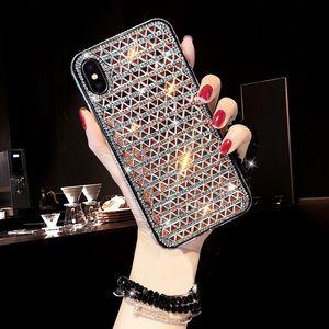 Luxe Jeweled pour iPhone Xs Max Xr X Glitter diamant étuis pour iPhone 7 8 Plus brillant couverture pour Iphone X Case