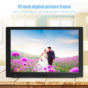 إطار الصورة الرقمية 10 بوصة LED IPS شاشة الموسيقى والفيديو التعريفي الإنسان الالكترونية ألبوم صورة