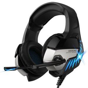 Dizüstü Tablet / PS4 / Yeni Xbox One için mikrofon LED Işık ile Kulaklık Kulaklık casque ONIKUMA K5 Pro 3,5 mm Gaming Kulaklık En
