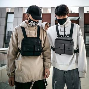 Registrabili di modo maglia di Hip Hop Streetwear funzionale tattico della cassa del cablaggio Rig Kanye West Vita Cassa Borsa Utility pacchetto WlYz #