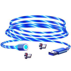안드로이드에 대한 자기 빠른 충전 USB 케이블 흡수 데이터 케이블 360도 혁신적인 트리머의 USB 알루미늄 합금 발광 충전을 입력
