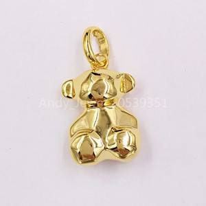 Authentic 925 Sterling Silver pendants Small Silver Vermeil Sketx Pendant Fits European bear Jewelry Style Gift 018094590