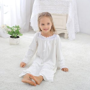 Family Matching Outfits Princess Nightdress Spring Baby Girl Women Sexy Sleepwear Lovely Retro Cotton Plus Size Pajamas Y285 Y200713