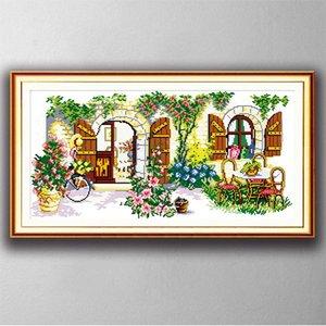 Идеальный дом декора дома картины, ручной вышивки крестом Вышивка Рукоделие наборы подсчитывали печать на холсте DMC 14ct / 11CT