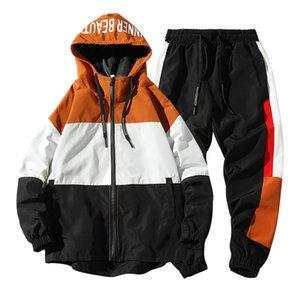 Мужская Спортивная одежда наборы 2020 осень весна Толстовки Мужской Повседневный костюм куртка + Sweatpants спортивный костюм для мужчин Dropshipping