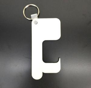 20pcs Keychain Dupla Face A sublimação em branco MDF Key imprensa do calor cadeia de impressão de madeira para a parte saco