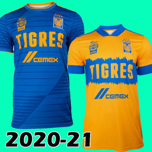 20 21 mx liga jersey football Tigres UANL 2020 2021 UANL chivas le football tigres chemise de qualité supérieure thaïlande