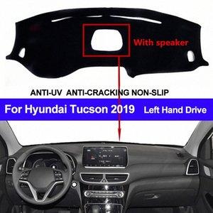 Tableau de bord de voiture couverture pour Tucson 2019 avec haut-parleur antipoussière Dashmat Pad LHD Tableau de bord Tapis Couverture Dash Mat Sun Shade N4oJ #