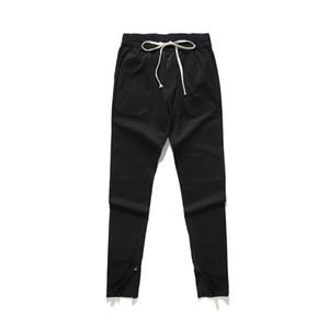 Лето New Black Zipper Брюки Спорт Стиль голеностопного Дискоидальные Брюки Мужчины Женщины Свободные брюки Casual