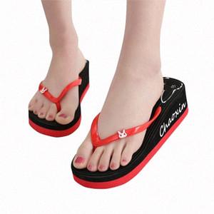 2020 Летний Новый Высокий Heeled Тапочки Женщины Повседневная Wild Толстые Bottom Бич Вьетнамки Женщины сандалии и тапочки мальчиков Тапочки Acorn Sl SJWc #