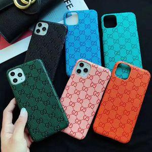 아이폰 (11) 프로 맥스 XR XS 7 8 플러스로 돌아 가기 PU 가죽 모델 전화 무료 배송 도매 패션 전화 케이스