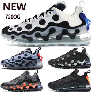 2020 nuevos zapatos 720OG runninig blanco negro de plata total de oro de color naranja metálico reaccionan hombre elemento zapatillas de deporte de las mujeres de moda entrenadores LOS PRECIOS 36-45
