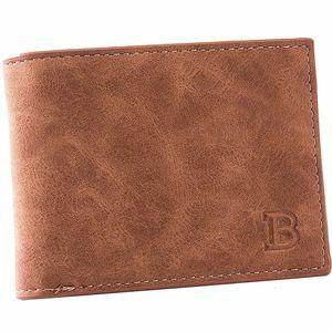BABORRY 2019 Sac Monnaie Portefeuilles Hommes Homme Portefeuille en cuir Petit porte-monnaie court Homme Porte-monnaie PU Porte-cartes porte-monnaie Portefeuille monnaie pour hommes