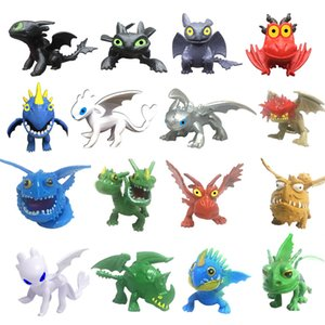 How To Train Your Dragon 3 PVC Figure Toys Hiccup Toothless Skull Gronckle Deadly Nadder Night Fury Dragon Figures home decor FFA1852