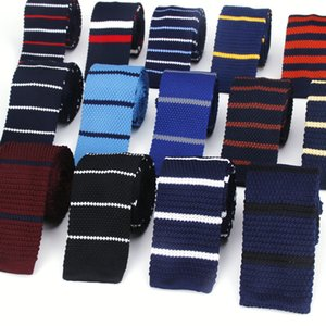 New Design Fashion Knit Men Tie Slim Mens Knitted Neck Ties Cravate Narrow Skinny Neckties For Men Suit Wedding Party Neck Ties