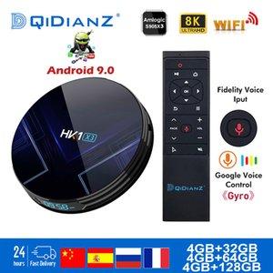 Smart TV BOX hk1x3 Android 9.0 1000M Amlogic S905X3 8K Çift Wifi BT Netflix Hızlı Set üst Hk1 x3 PK HK1MAX H96 a95x