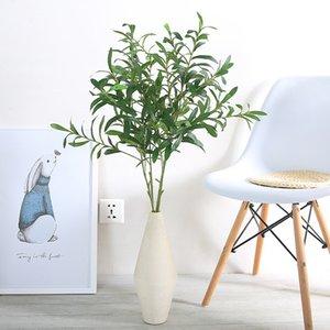 103cm branche d'olivier verte en soie artificielle Faux Feuillage Herbe Bush fête de mariage jardin Décor d'hiver Direction frais