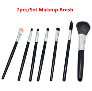 7pcs Cosmetic Blush Makeup Brushes Set Foundation Eyeshadow Eyeliner Lip Brush Beauty Blush Sets DHL Fast Ship