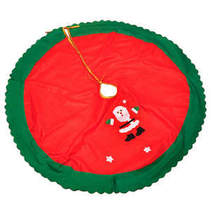 Home Ornaments Floor Cover 90CM Christmas Trees Skirts Decor Apron Santa Claus Round Christmas Tree Skirt Holiday Party Supplies DH0224