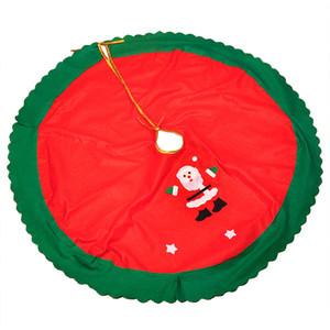 Inicio Adornos Planta cubierta 90CM árboles de navidad Faldas decoración delantal de Santa Claus redondo de la Navidad del partido de fiesta del árbol de la falda Material DH0224