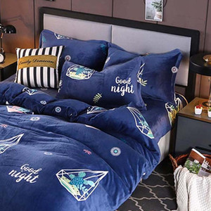 YanTing Flannel Home Textile Soft And Breathable Bedding Sets Twin Full Queen King Tumble Dry On Low Heat Do Not Bleach Or Iron
