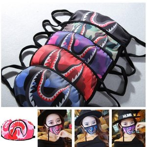 Ucuz Yıkanabilir Yüzme Ape Köpekbalığı Yüz Ağız Yeniden kullanılabilir Bisiklet Maskesi Araç Koruyucu Ağız-kalıp ile Kapaklar Maskesi