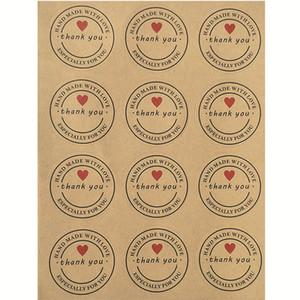 Circular adesivos Obrigado Adesivos Hand Made With Love Especialmente para você Baking etiqueta da garrafa Moda Personalidade 0 17xy D2