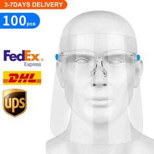 Gesichtsschutzschild, Fully Transparent Gesicht und Augenschutz von Droplets und Saliva mit Wiederverwendbare Gläsern und Austauschbare Schild